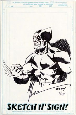 Call Of Duty #1 Jay Company Originals Sketch N Sign Art Thibert Remarked Wolverine COA #2